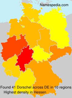 Surname Dorschel in Germany