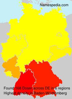 Surname Doser in Germany