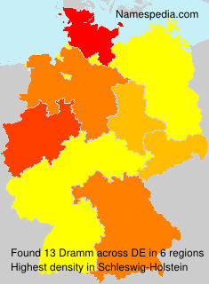 Surname Dramm in Germany