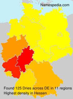 Surname Dries in Germany