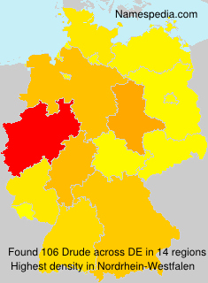 Familiennamen Drude - Germany