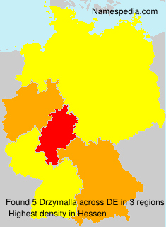 Surname Drzymalla in Germany
