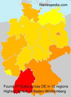 Familiennamen Duba - Germany