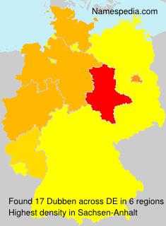 Familiennamen Dubben - Germany