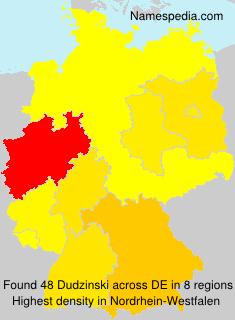 Surname Dudzinski in Germany