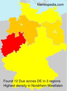Familiennamen Due - Germany