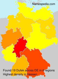 Surname Dufek in Germany