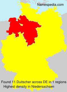 Familiennamen Duitscher - Germany
