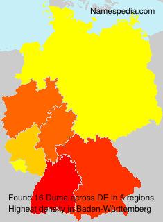 Surname Duma in Germany