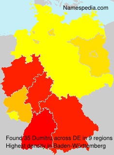 Familiennamen Dumitru - Germany