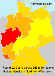 Surname Dupre in Germany