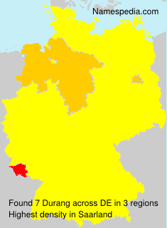 Surname Durang in Germany