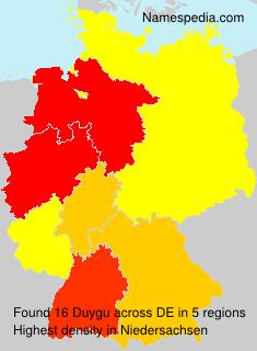 Surname Duygu in Germany