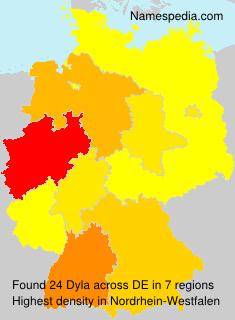 Familiennamen Dyla - Germany