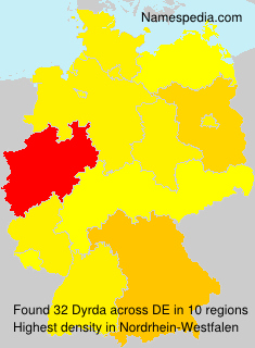 Surname Dyrda in Germany
