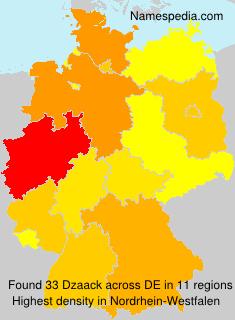 Surname Dzaack in Germany