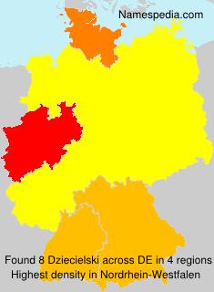 Surname Dziecielski in Germany