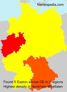 Familiennamen Easton - Germany