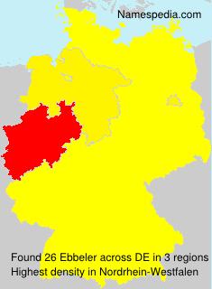 Familiennamen Ebbeler - Germany