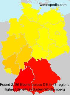 Surname Eberle in Germany