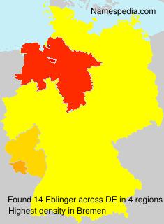 Surname Eblinger in Germany
