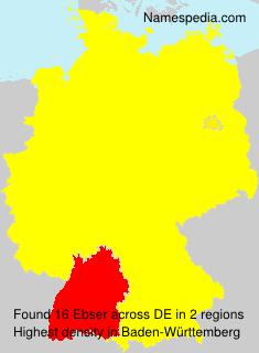 Familiennamen Ebser - Germany
