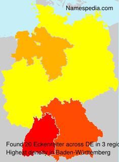 Familiennamen Eckenreiter - Germany