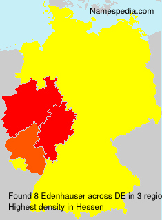 Surname Edenhauser in Germany