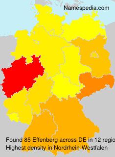 Surname Effenberg in Germany