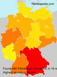 Familiennamen Effenberger - Germany