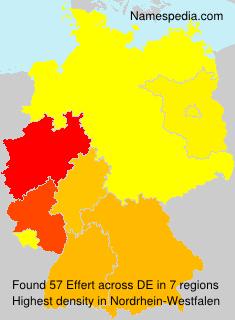 Familiennamen Effert - Germany