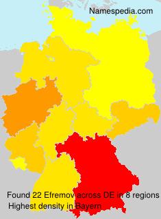 Surname Efremov in Germany