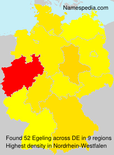 Surname Egeling in Germany
