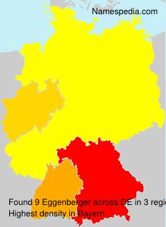 Surname Eggenberger in Germany