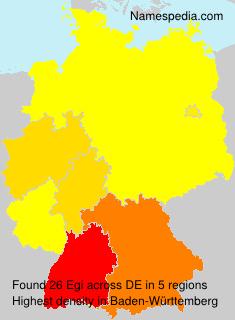 Surname Egi in Germany