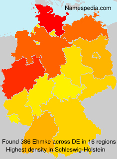 Surname Ehmke in Germany