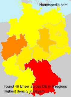 Surname Ehser in Germany