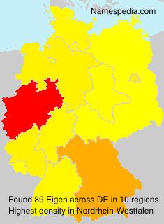 Familiennamen Eigen - Germany