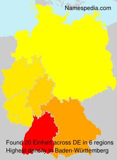 Surname Einhart in Germany