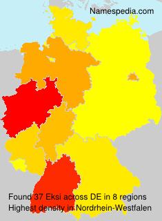 Surname Eksi in Germany