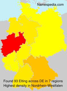 Surname Elting in Germany