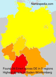 Surname Emert in Germany