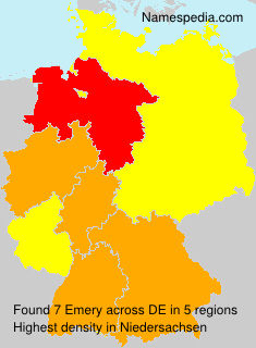 Familiennamen Emery - Germany