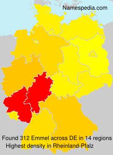 Surname Emmel in Germany