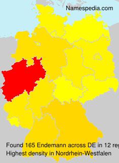 Familiennamen Endemann - Germany