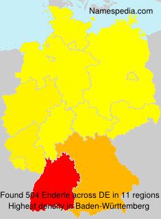 Surname Enderle in Germany