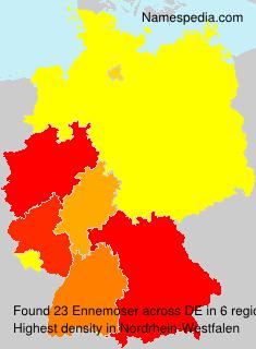 Familiennamen Ennemoser - Germany