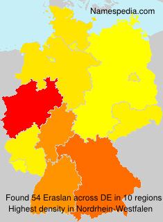 Surname Eraslan in Germany