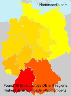 Surname Erban in Germany