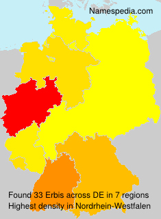 Surname Erbis in Germany